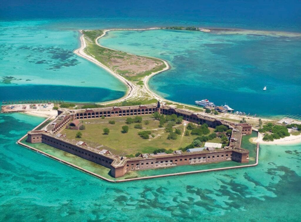 Left: A trip to the Dry Tortugas is always a favorite for visitors.