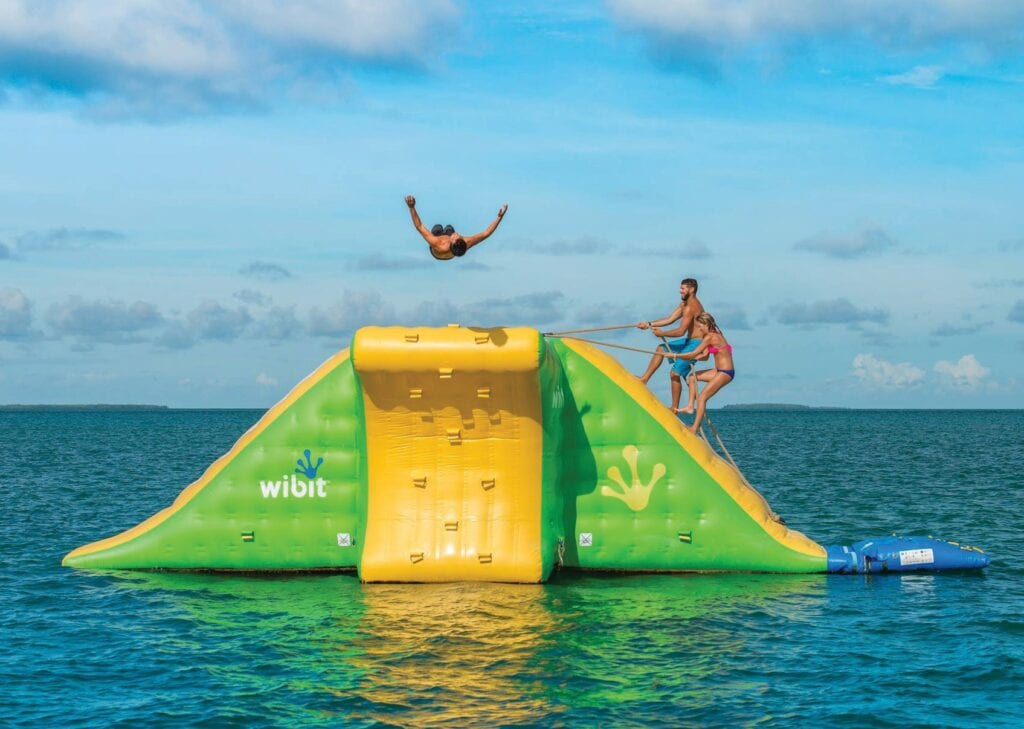 Fury's Ultimate Adventure includes a floating bouncy in the ocean. COURTESY PHOTO