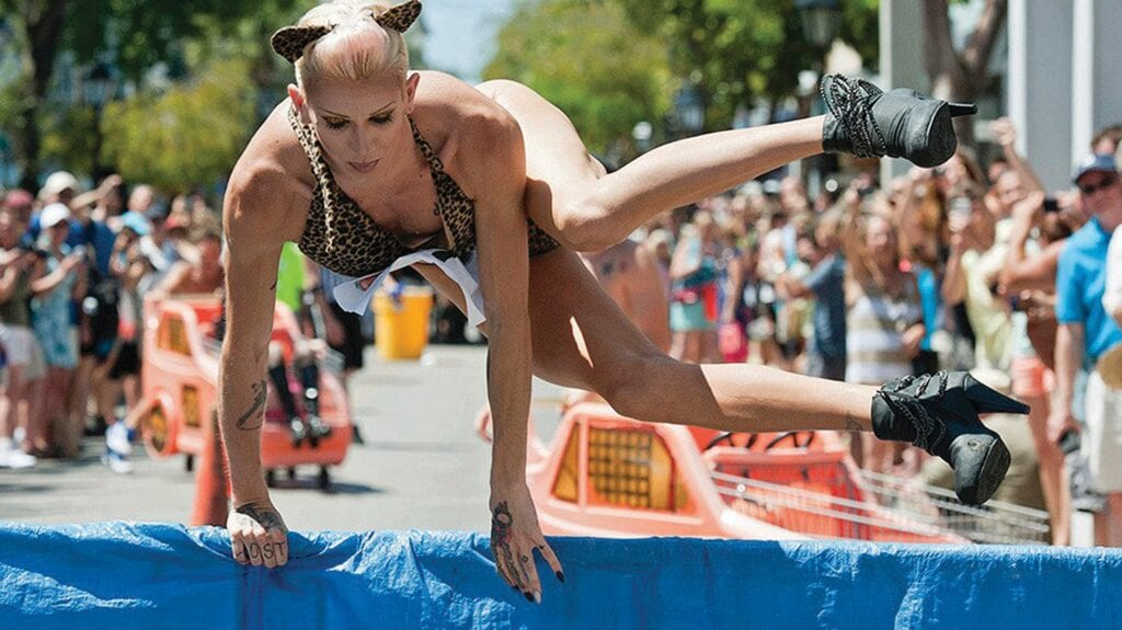 The Great Conch Republic Drag Race practically demands that participants don heels and skirts. COURTESY PHOTO