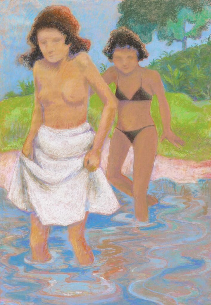 """Works by Ann Lorraine are on display at Salt Life Provisions. ABOVE: """"Girls Wading."""" COURTESY PHOTOS"""