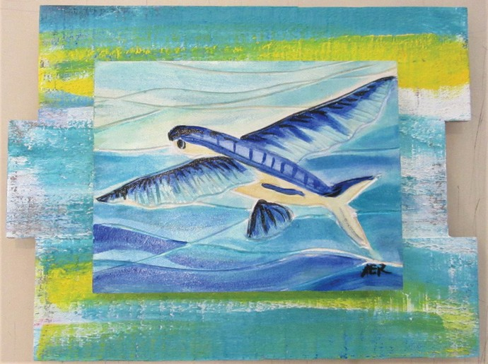 """See works like """"Flying Fish,"""" by Alicia Renner, as well as works by other artists at Key West Art Center & Gallery. COURTESY PHOTO"""