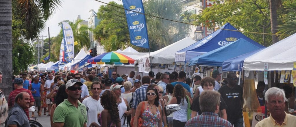 Lobsterfest will fill the 100-500 blocks of Duval Street with vendor stalls. COURTESY PHOTO