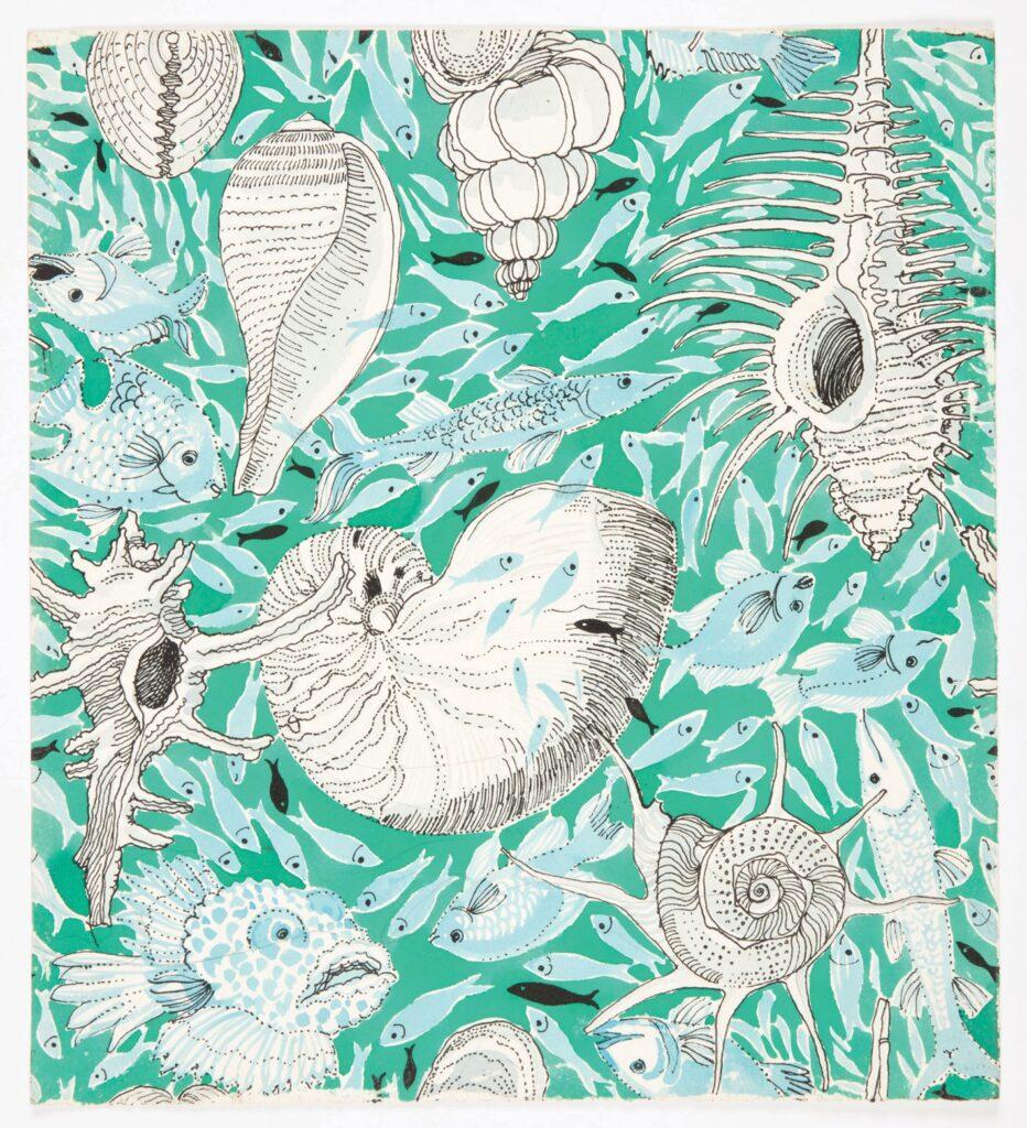 Drawing, The Reef, © June 12, 1979. Designed by Suzie Zuzek.