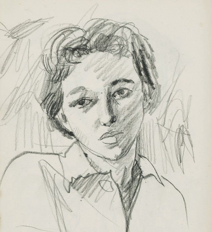 Suzie Zuzek (American, 1920–2011), Self-portrait, ca. 1947 COURTESY OF THE DE POO FAMILY