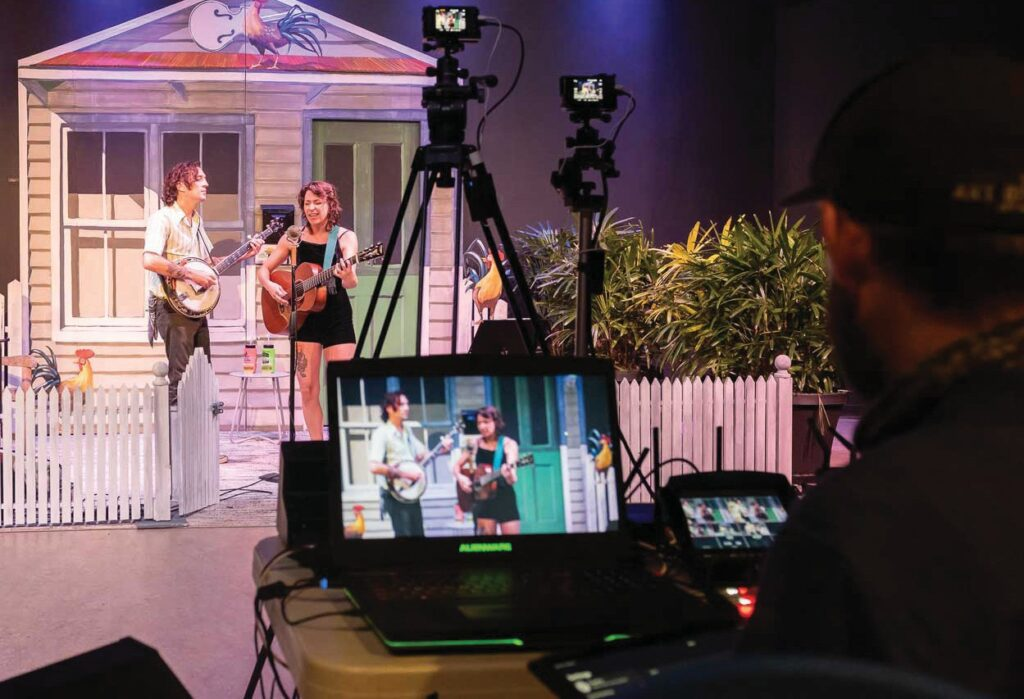 The Studios of Key West tuned its laptop cameras to stream live shows, such as this concert by Lindsay Lou. COURTESY PHOTOS
