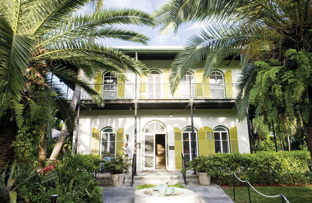 The Ernest Hemingway Home was the first home on the island to have a swimming pool.