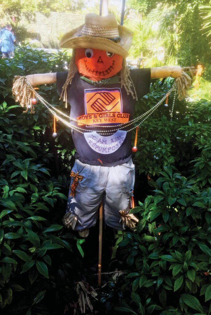 """Mr. Bill,"" a scarecrow by the Boys & Girls Club. COURTESY PHOTO"